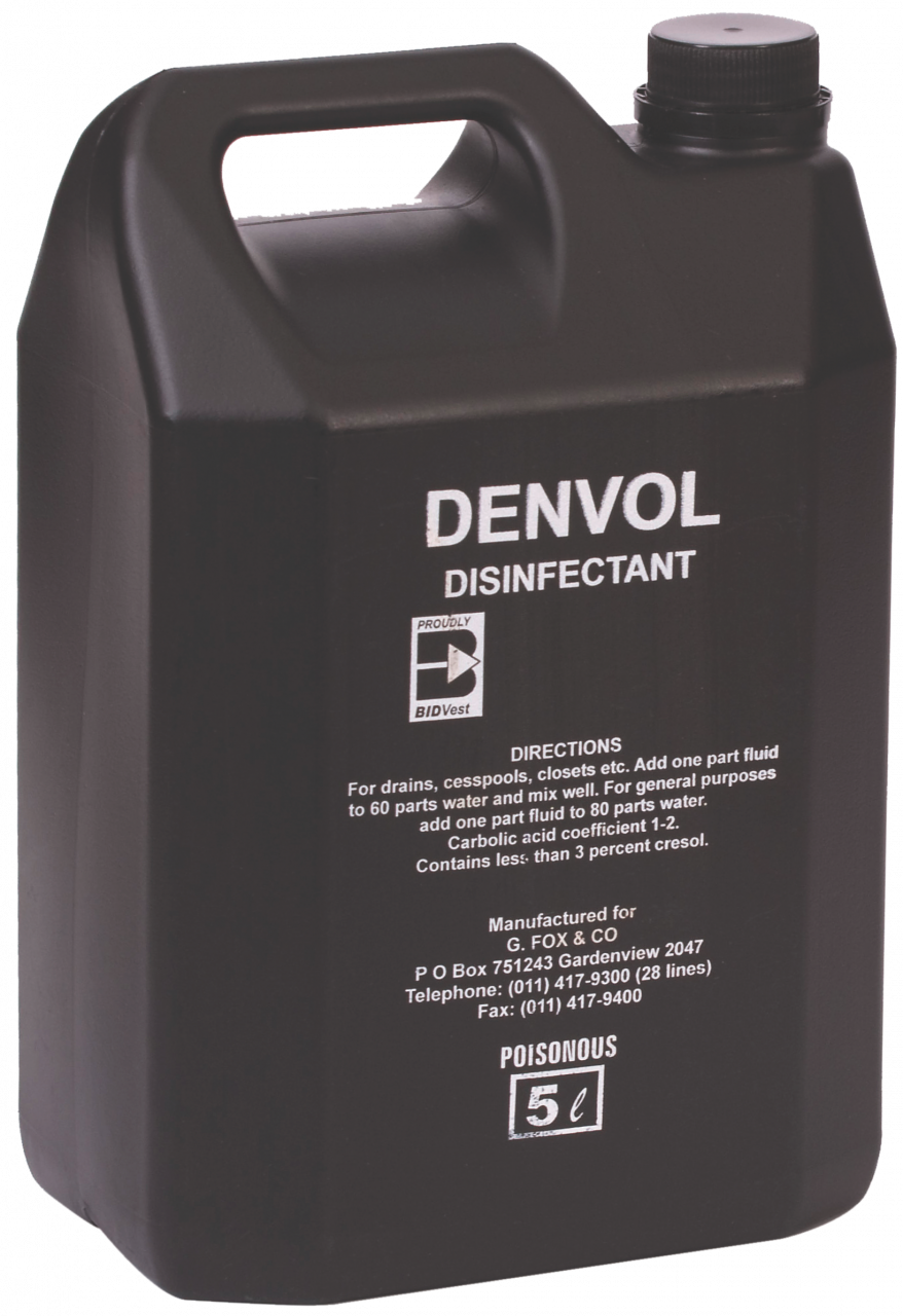 DENVOL BLACK DRAIN CLEANER & DISINFECTANT DIP