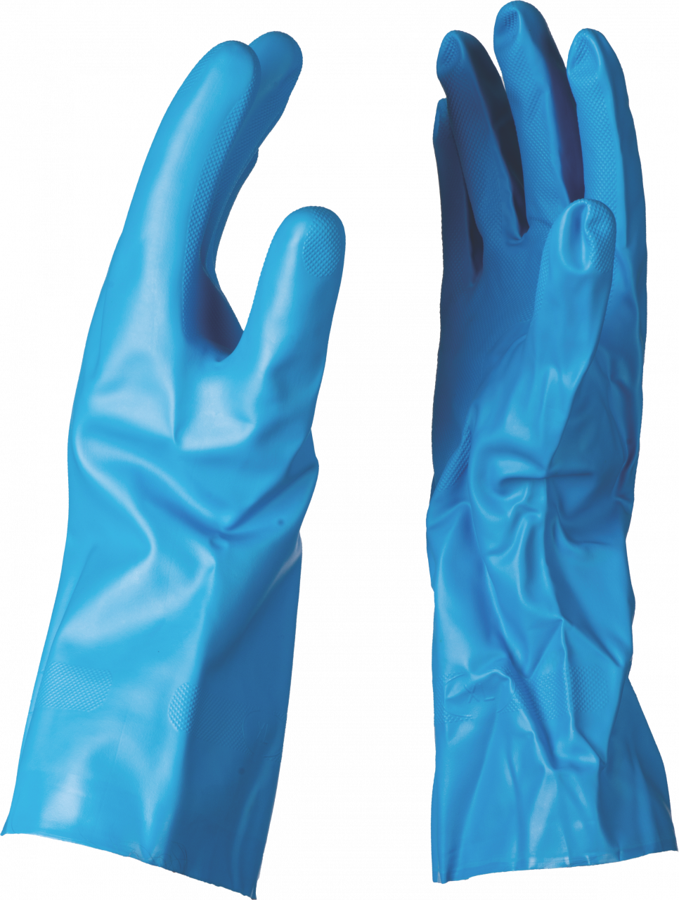 NITRILE G25B BLUE LINED GLOVE