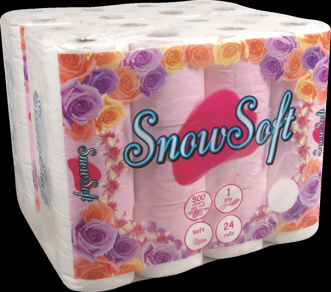 SNOWSOFT VIRGIN 1 PLY TOILET TISSUE