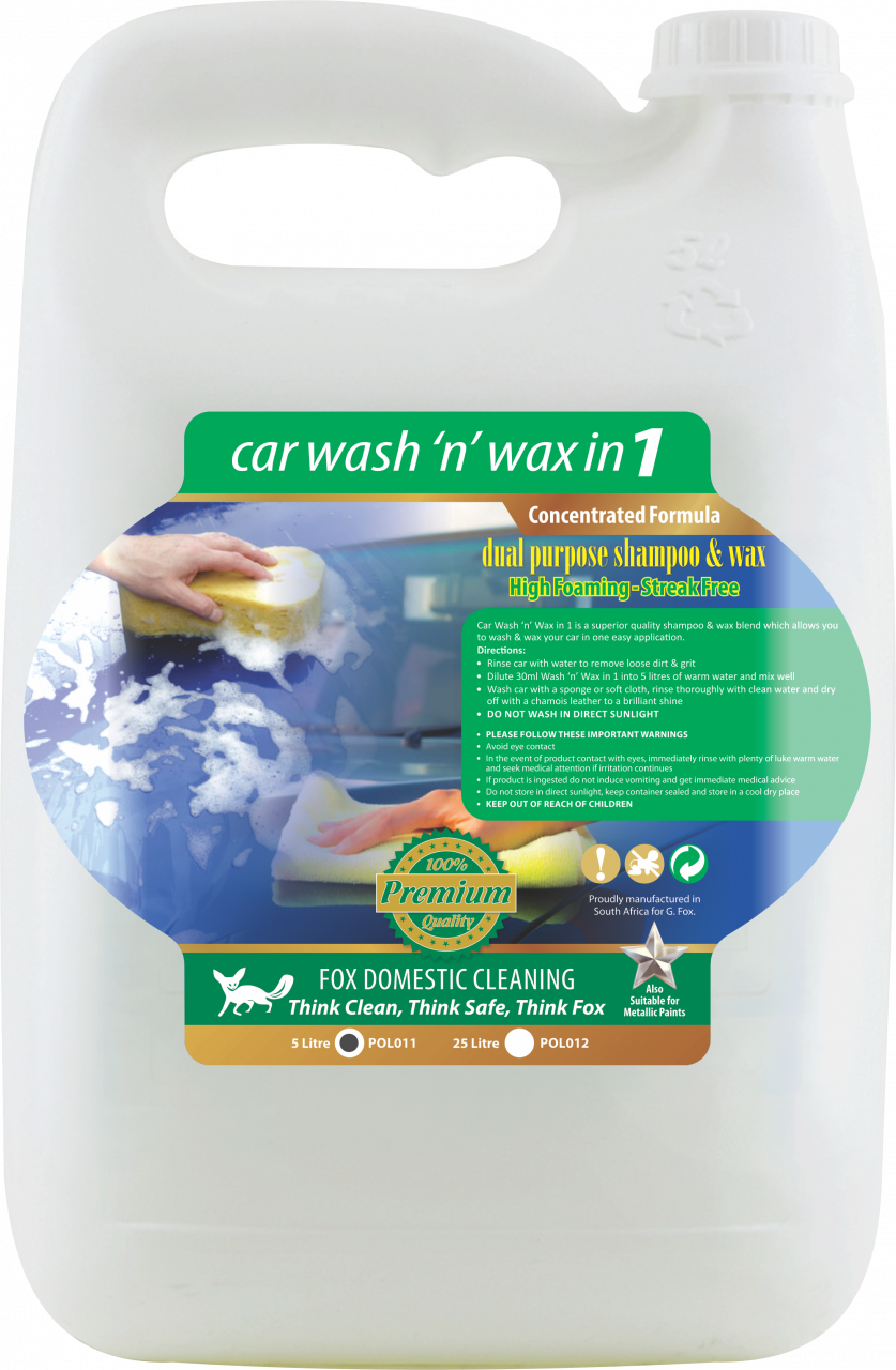 WASH & WAX CAR POLISH