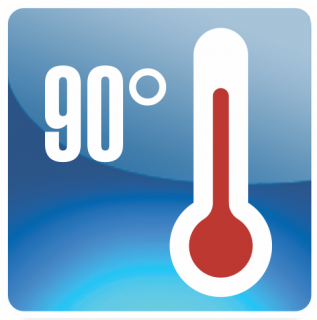 Heat Resistant 90° logo