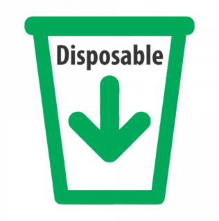Disposable logo